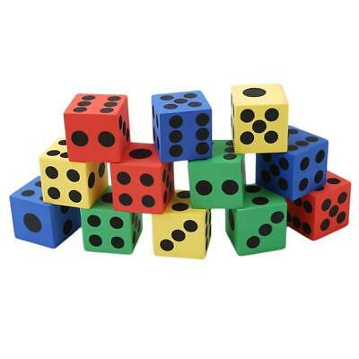 12PCS Bar Pub Party 37mm Six Sided Spot Playing Games Dice Set Opaque HOT LH
