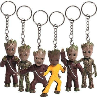 Baby Groot Guardians of the Galaxy Vol.2 Cute Key Chain Alloy Keyring Pendant