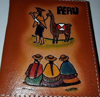Handmade notebook Andean leather gift