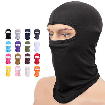 Cycling lycra Balaclava Full Face Mask Outdoor Ski Ultra-thin Neck Protecting#D)