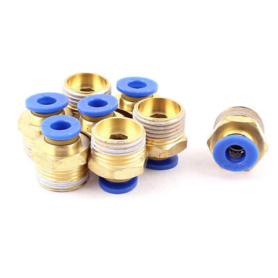 8 Pcs PC6-03 6mm Tube to 3/8 BSP Thread Push in Quick Connect Coupler Fittings
