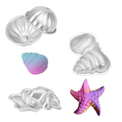 2Pcs Set Conch Shape Metal Aluminum Bath Bomb Mold Mould DIY Homemade Crafting S