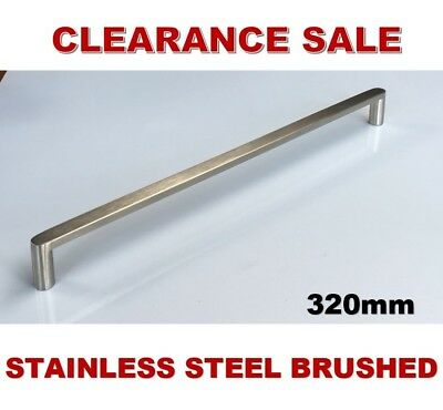 Solid Stainless Steel Brushed Kitchen Cabinet Door Drawer Handles Pulls 320mm