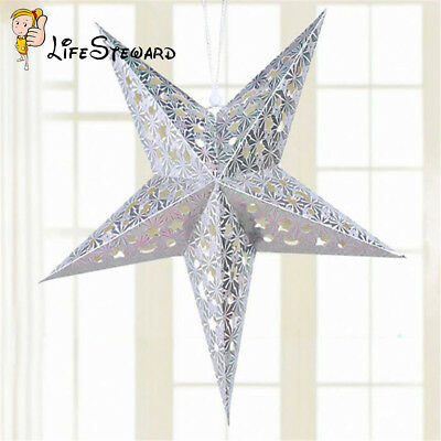 Xmas String Hanging Star Christmas Party Decoration Christmas Tree Silver New