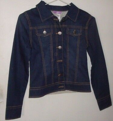 Girls Jacket--Size 12-  Dark Blue -Polyester/cotton- New With Tag