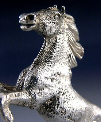 Beautifully Cast Solid Sterling Silver English Horse Figure 2001 Good Size