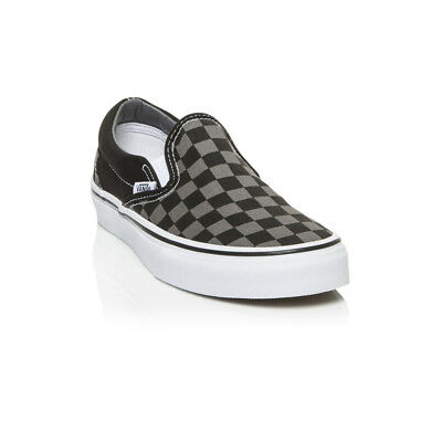 Vans - Classic Slip on Casual Shoe - Black/Pewter Checkerboard