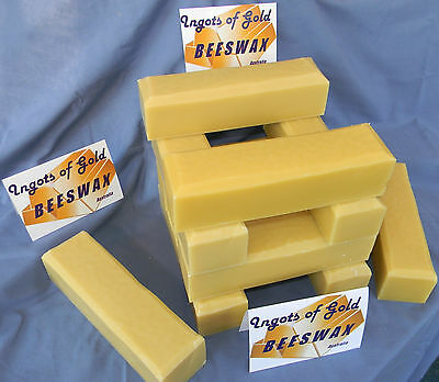 100% Natural - Beeswax 950 Grams Ingots of Gold - with traceable postage