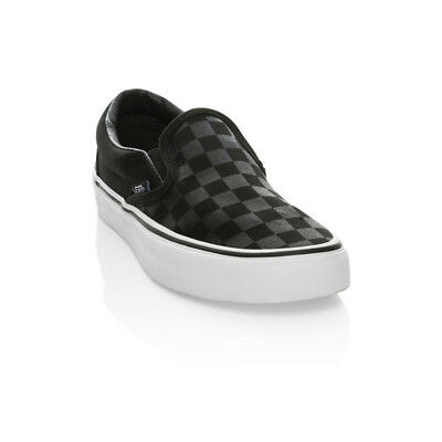 Vans - Classic Slip On  Casual Shoes - Black/Black Checkerboard