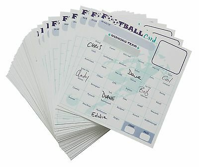 50 X Fund Raising Charity Event Football Scratch Cards 40 Team