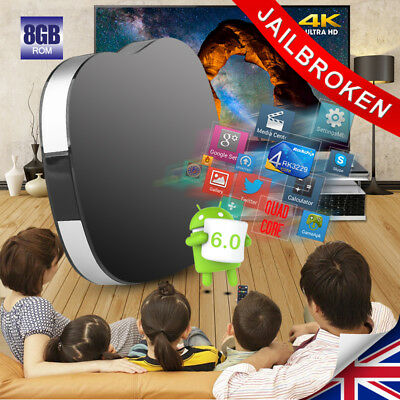4K Android 6.0 Smart TV Box Quad Core WIFI Internet Media Player KD17.1 RK3229