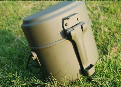 Military Army Soldier Lunch Box Canteen Mess Kit Kettle Pot Food Cup Bowl Set