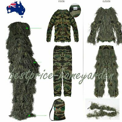Child Ghillie Suit Hunting Archery Sniper 3D Broken SuitPaintball Camo Gilly Bag