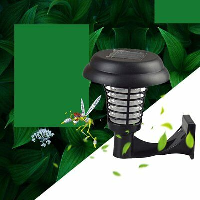 Solar Powered LED Mosquito Insect Killer Outdoor Wall Mounted Night Lamp D#