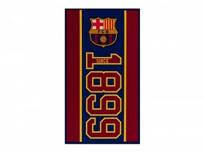 FC Barcelone Football Club 1899 Plage Serviette de bain Établi design officiel