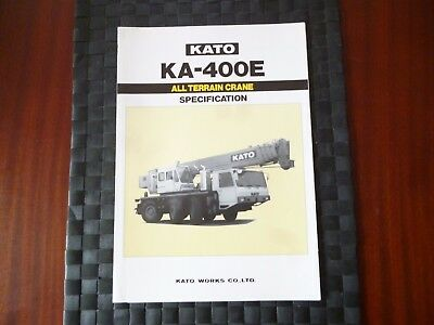 Kato Ka 400E All Terrain Crane Specification Leaflet/pamphlet *as Pictures*