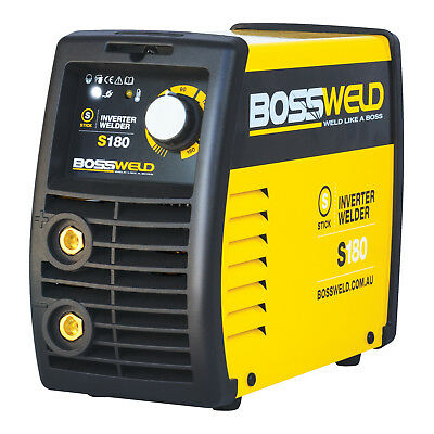 Bossweld S180 STICK ARC INVERTER WELDER 180Amp 240V, Take Up To 4.0mm Electrode