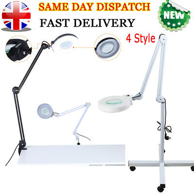 Desk Magnifier Magnifying Lamp Light Skincare Beauty Nail Manicure Tattoo Salon!