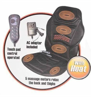 New Massage Seat Cover Heat Massager Lower Back Heated Neck Cushion Car Hips