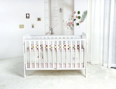 New Sleigh Baby Cot Crib Furniture Toddler Bed Drawer Mattress Package White