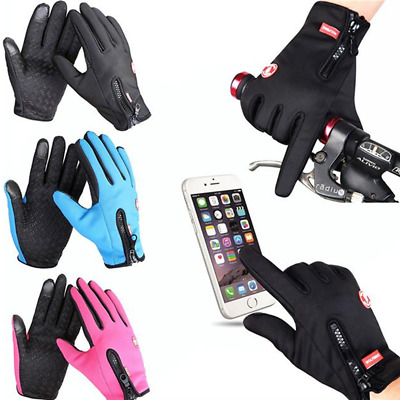 Touchscreen Winter Warm Cycling Bicycle Ski Silica Waterproof Gloves Hiking