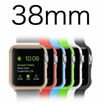Apple Watch Case 6 Color Pack Hard Protective Bumper Cover 38mm iWatch 1 2 Case