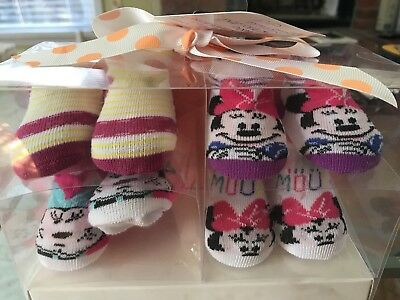Disney Booties Baby Girl 4 Pairs Minnie Mouse
