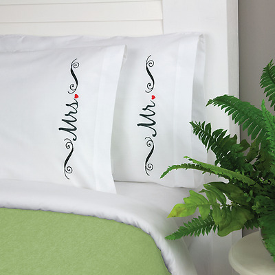 Dimensions - Embroidery Pillow Cases - Mr & Mrs - D72-74129