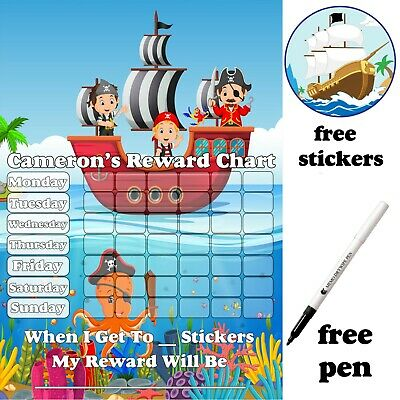 Reusable Octonauts Potty training Reward Chart free Stickers & pen, MAGNETIC