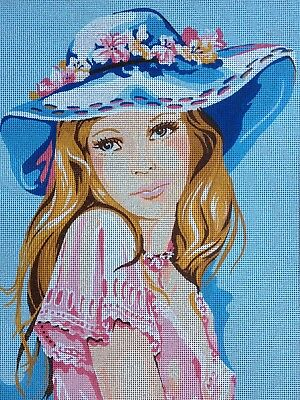 Needlepoint tapestry gobelin printed canvas  Sweet girl