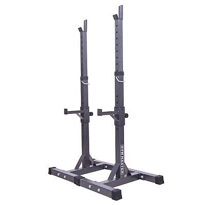 Gym Master Adjustable Barbell Squat Rack Spotter Stands Bench Weight Power Rack