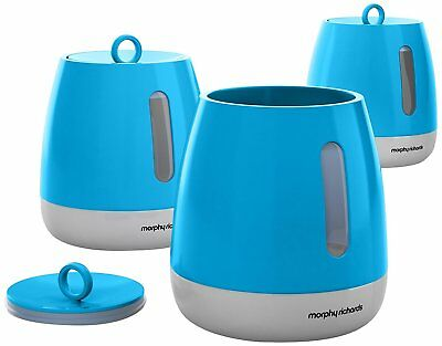 Morphy Richards Chroma Set of 3 Storage Canisters in Iris Blue - 971365