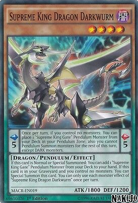 Yugioh - 3x Supreme King Dragon Darkwurm MACR-EN019 Common - 1st Ed - NM/M