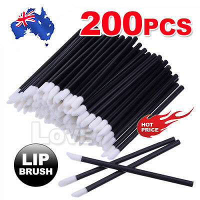 200PCS Disposable Lipbrush Lip Gloss Wands Lipstick Applicator Cosmetics Tool