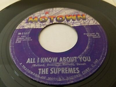 THE SUPREMES - The Happening / All I Know About You 1967 MOTOWN SOUL Diana Ross