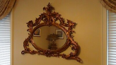 Exceptional Hand Crafted Wood Frame, Italian Mirror