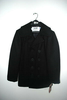 Schott NYC Classic MELTON WOOL NAVAL PEACOAT 740 NAVY AUTHENTIC Mens Sizes NEW