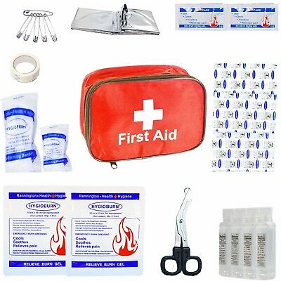 JFA Burns First Aid Kit in Red Fabric Pouch - for Kitchen Catering & Business