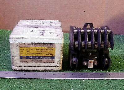 1 New Square D 8501 H0-60 Ac Control Relay ***make Offer***