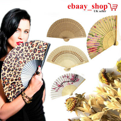 New Wooden Ladies Hand Fan Folding Fan Holiday Wedding Party Cool Wedding Prom