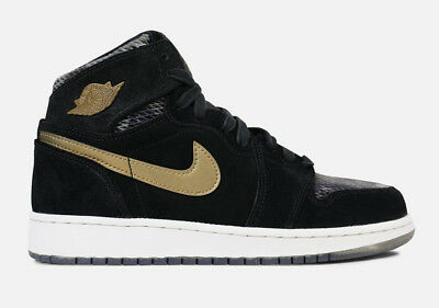 {832596-030} Grade School NIKE AIR JORDAN 1 RETRO GG HEIRESS BLACK/GOLD *NEW!*