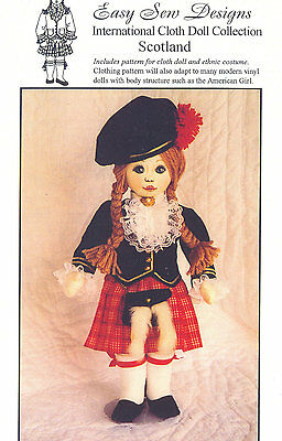 Doll Pattern International Cloth Doll Collection Scotland Cloth Doll BHD 1481