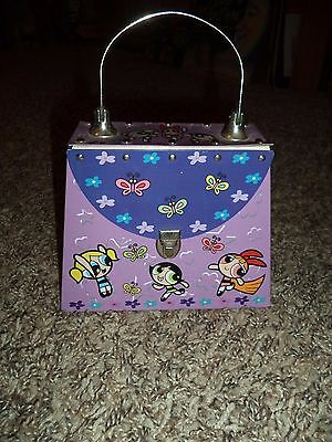 2001 Cartoon Network Powerpuff Girls Metal Purse Storage Case