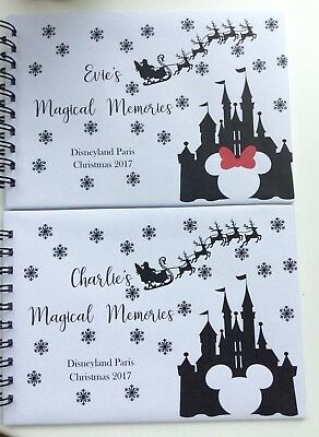 Personalised Disney CASTLE Autograph Book/Photo Book/Memory Book - CHRISTMAS -A5