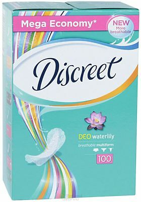 DISCREET economi Daily Sanitary Pads panty liners 100 Natural Curved Panty Liner