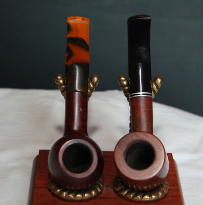 LOT of 2 FERO (FEDERICO ROVERA) ITALY **EXCELLENT COND.** Estate Smoking Pipes