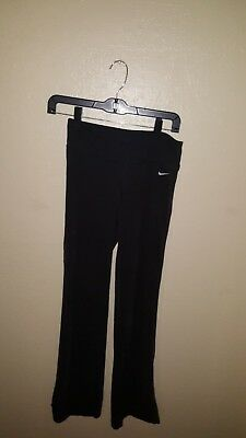 Women's Nike Dri-Fit Black Athletic Yoga Pants Size X-Small