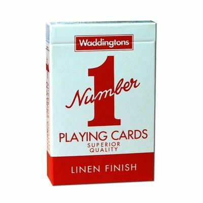 Red No.1 Wadddingtons Playing Cards