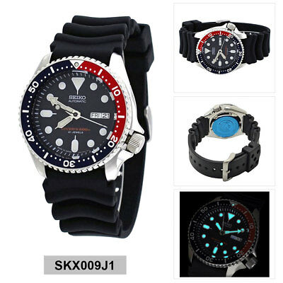 Seiko Analog Sport Watch Automatic Diver's Black Mens SKX009J1
