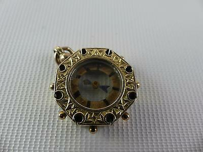 (Ref165BZ) Antique Victorian 9ct Gold Compass Fob Hallmarked Birmingham 1901
